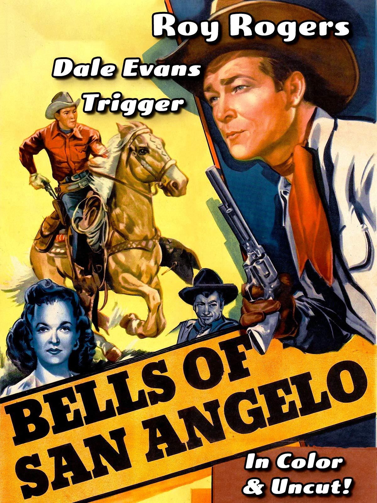 Bells Of San Angelo - Roy Rogers, Dale Evans, Trigger, In Color & Uncut!