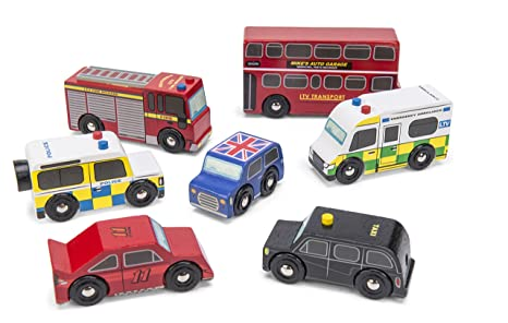 Le Toy Van - 12267 - Jouet en Bois - Les Véhicules Londoniens
