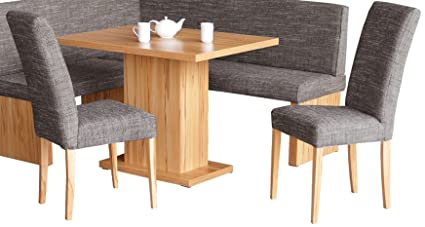 4.4.3.3184:serie 17 - Kuchen Essgruppe 2 Stuhle und 1 Tisch Kernbuche teilmassiv