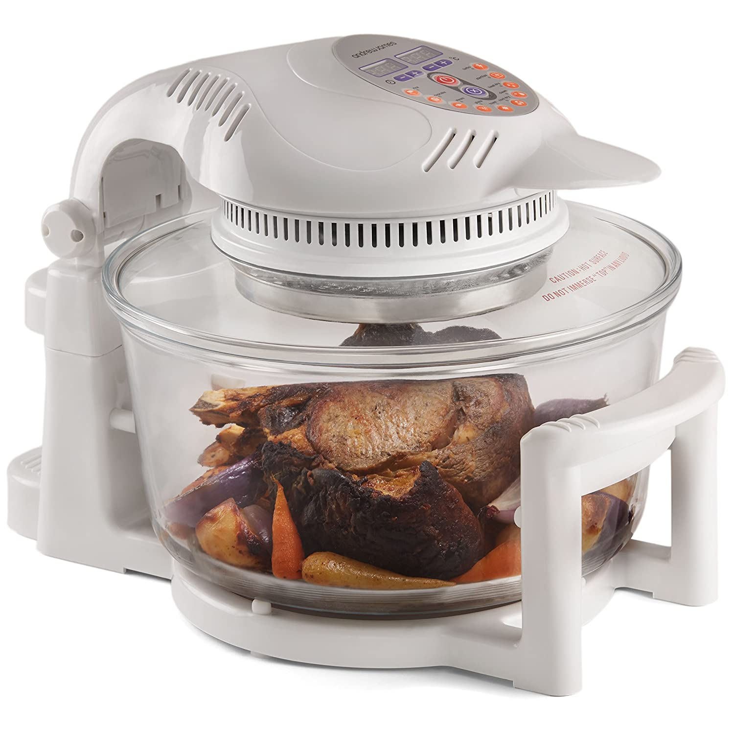 White Digital 1400W Digital Andrew James halogen cooker