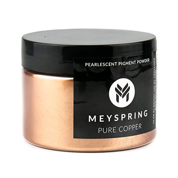 MEYSPRING Pure Copper Epoxy Resin Color Pigment - 50 Grams - Great for Art Resin, Ecopoxy, UV Resin (Color: Pure Copper, Tamaño: 50g)