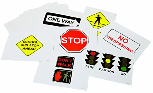 Toys Safety Signs Community Safety Signs Set of