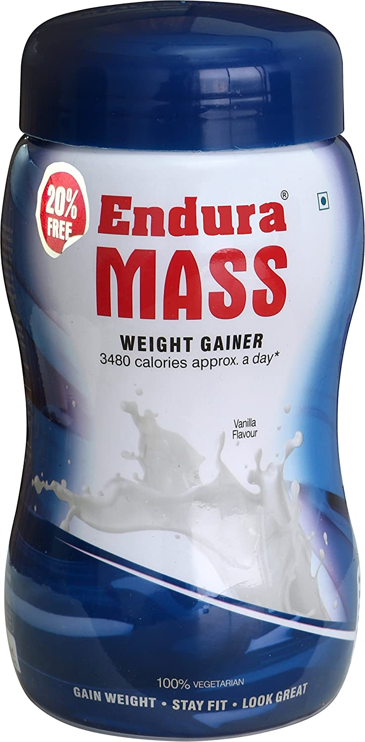 Endura Mass Weight Gainer 500 gm (Vanilla) low price