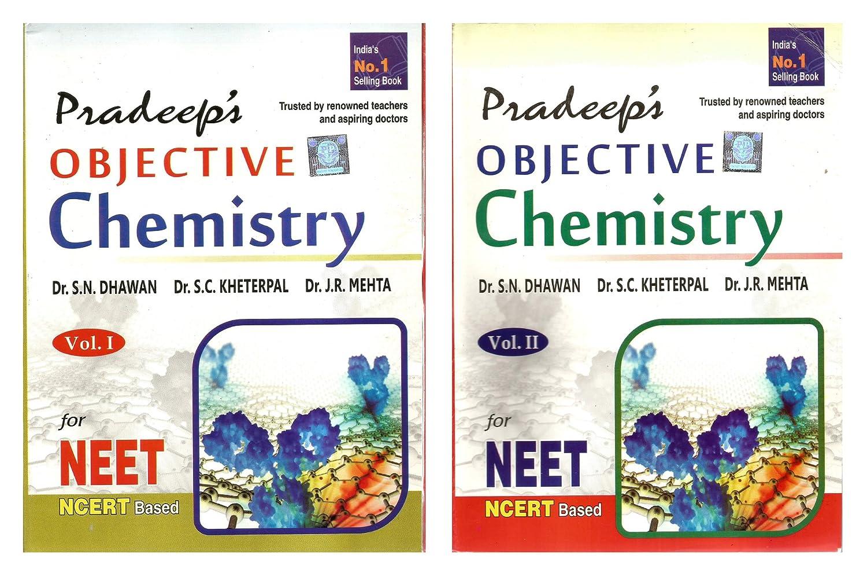Pradeep s objective chemistry vol i ii neet