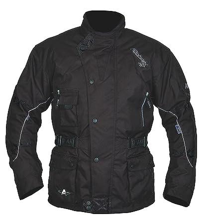 Akito fontaine python veste de moto stadttourenjacke veste imperméable noir