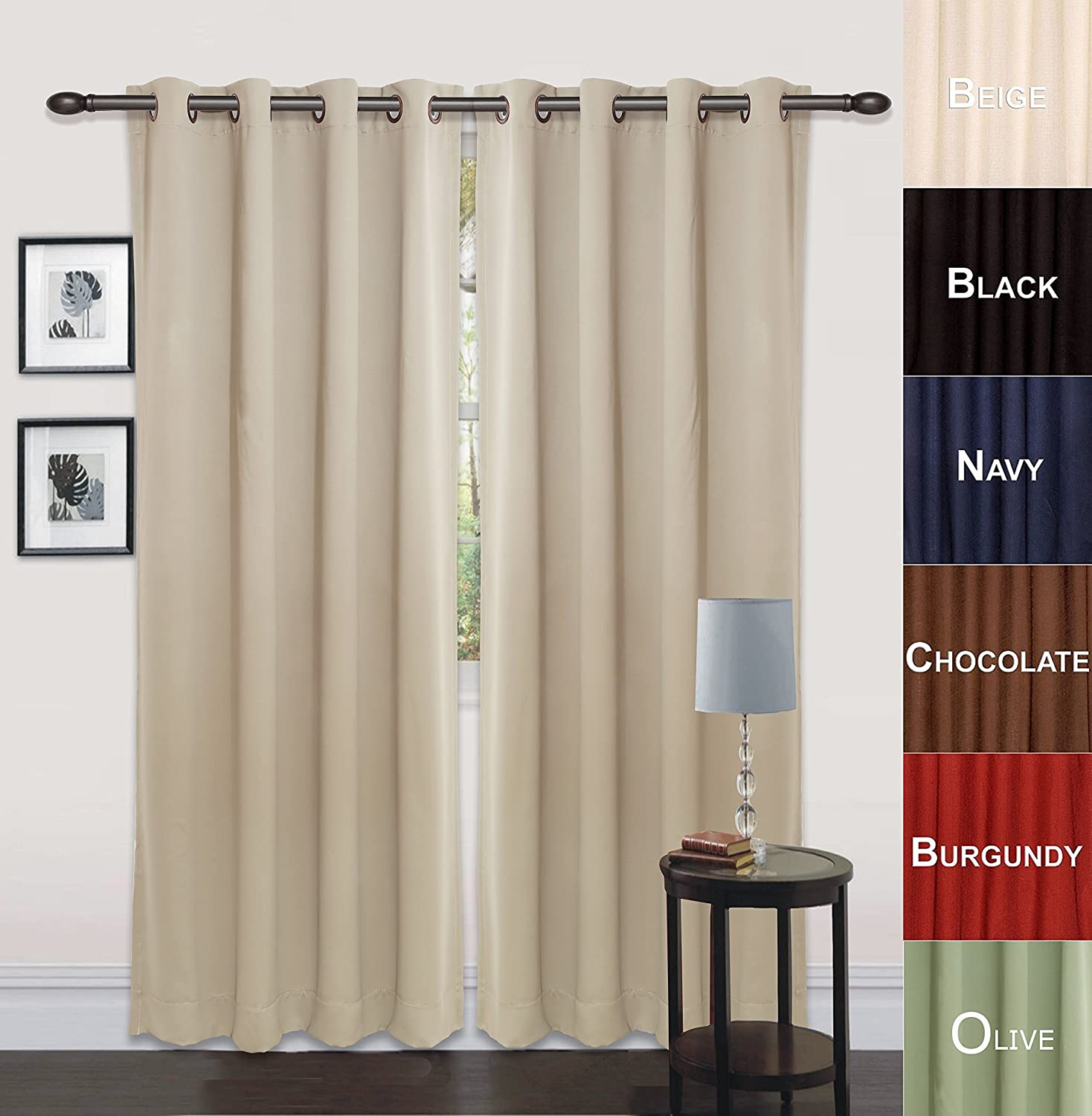 96 inch curtain rod