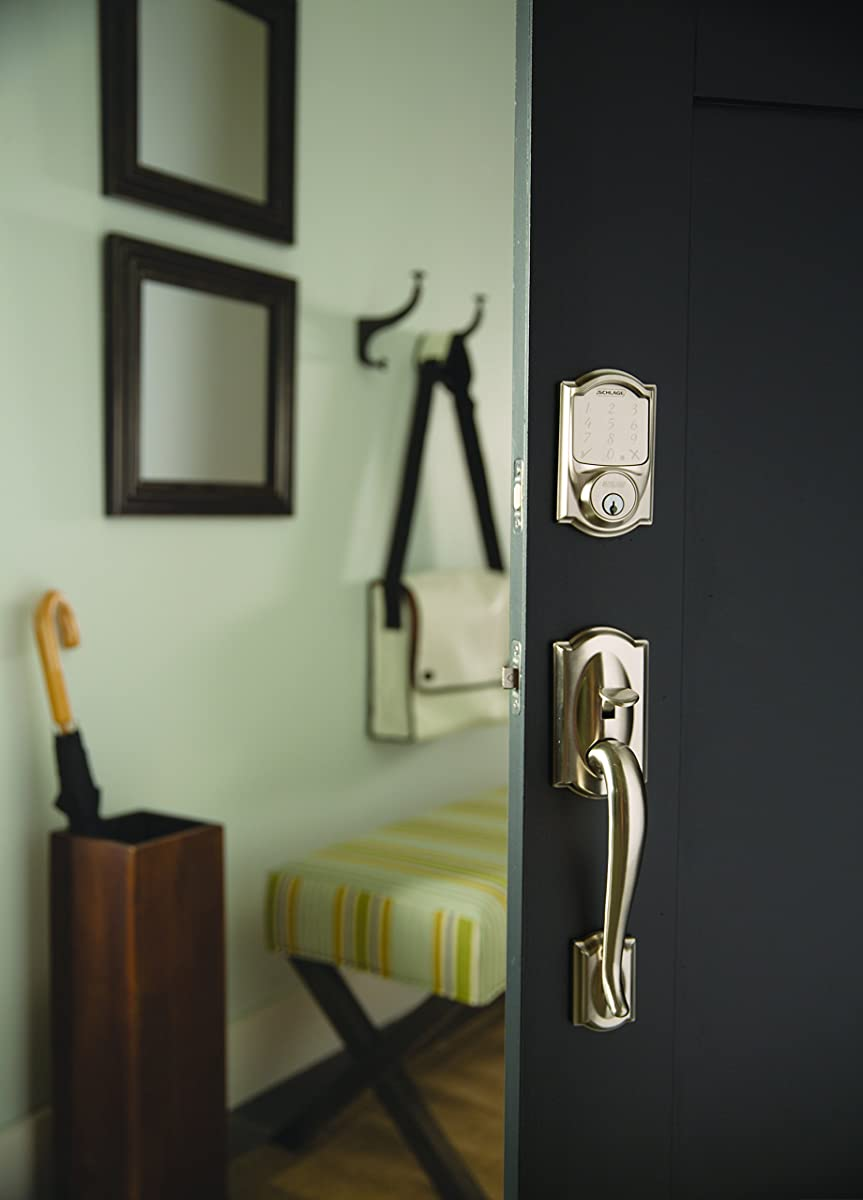 Schlage Sense Smart Deadbolt With Camelot Trim In Satin