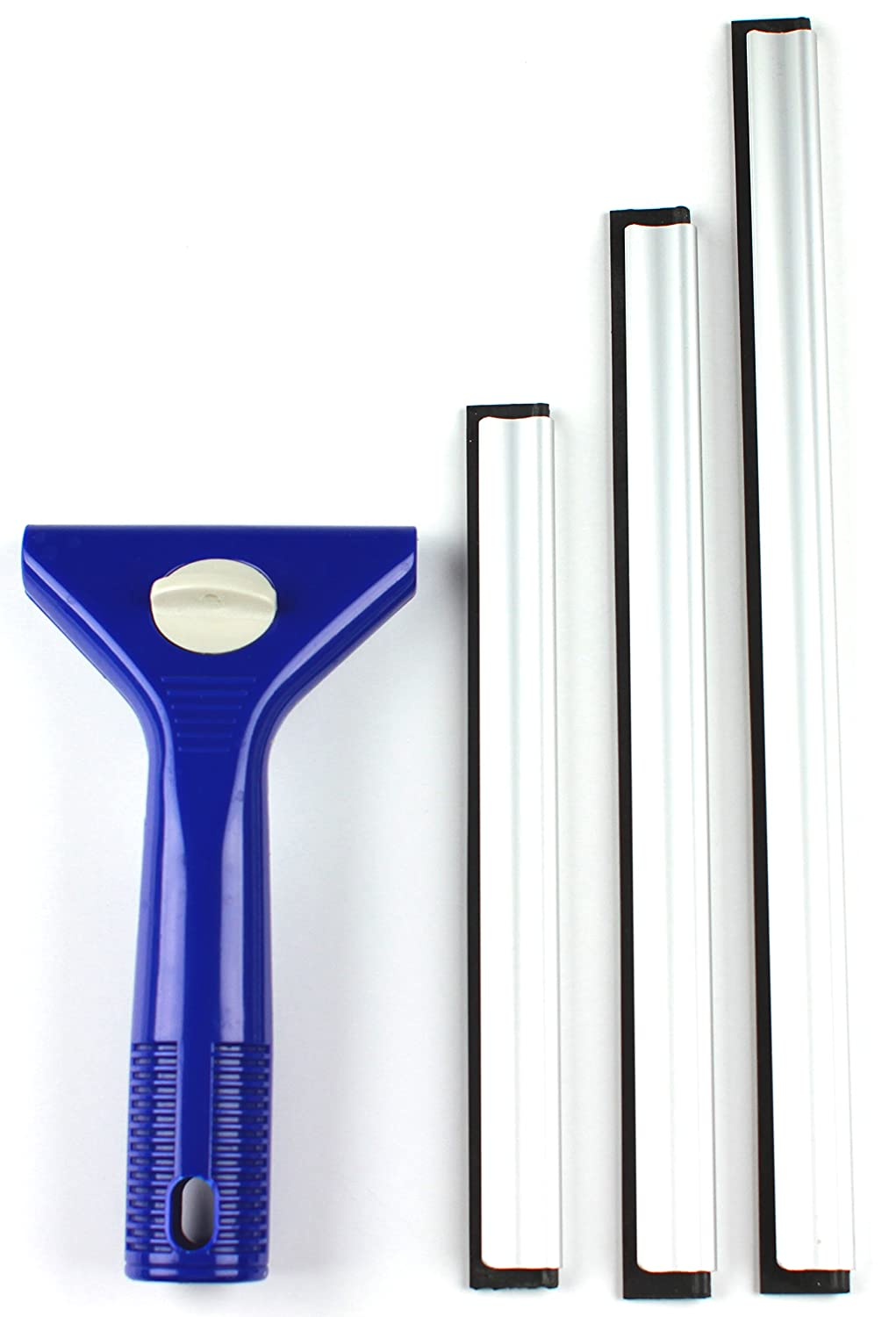 Jet Clean Easy Squeegee 3-Size Pro-All Purpose for Washing Glass
