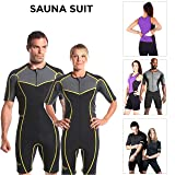 Kutting Weight New (cutting weight) neoprene weight loss sauna suit (2XL) (Color: Black w/ Neon Yellow Accents, Tamaño: XX-Large)
