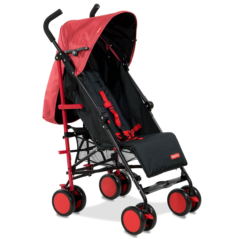 Fisher Price Lil Traveler Stroller cum Pram Red Strollers