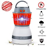 Bug Zapper Lamp-Mosquito Zapper Lamp-2-In-1 Zapper Lantern Charge Via USB-Lightweight Camping Gear & Accessories For The Outdoors & Emergencies-IP67 Waterproof-Compact- 2200mAh Rechargeable Travel Lig (Color: Orange bug zapper)