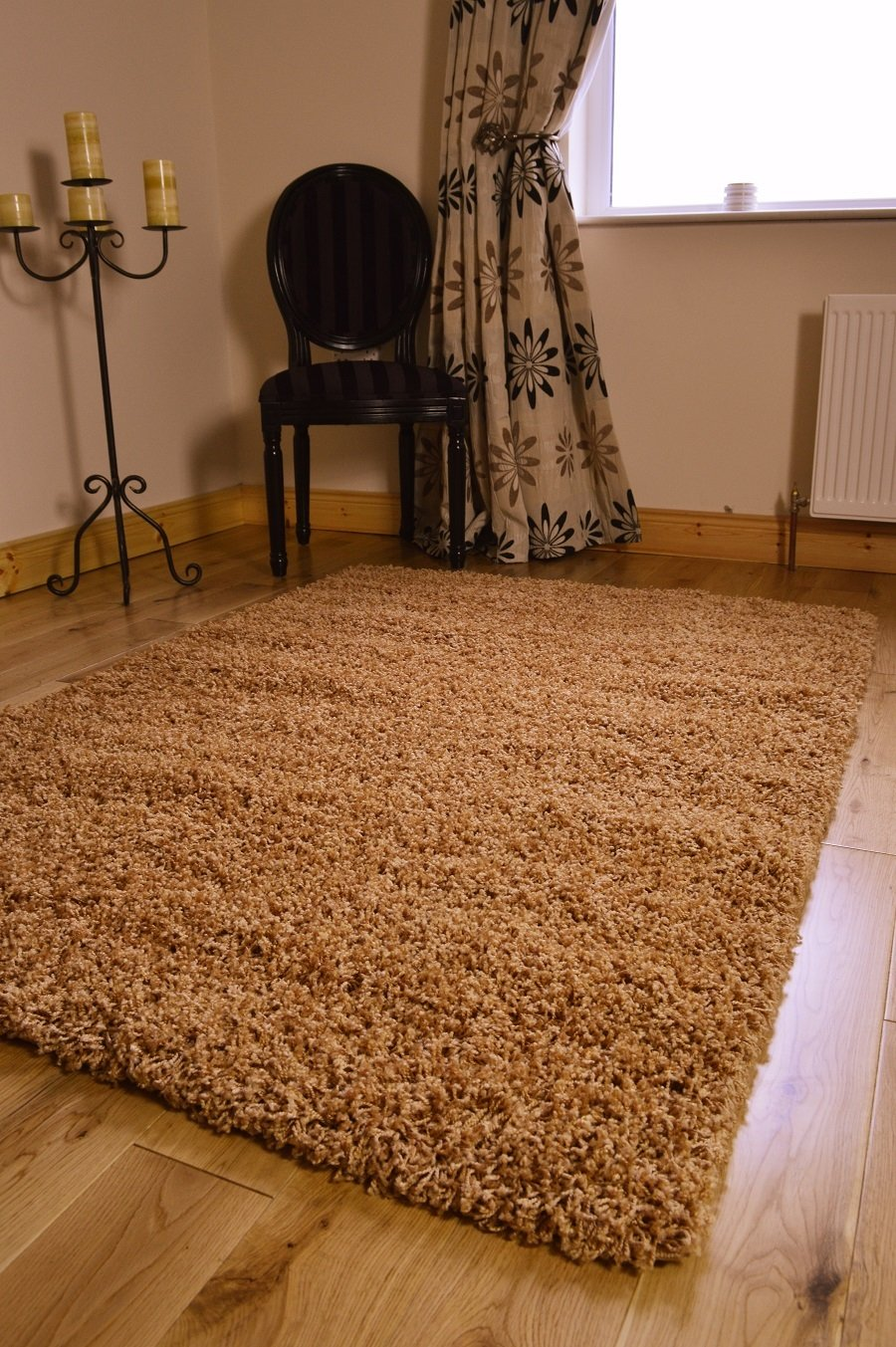 *5 SIZES*NEW SMALL MEDIUM XX LARGE MODERN GOLD BISCUIT SOFT THICK SHAGGY BEDROOM RUG CARPET LIVING ROOM MAT CHEAP (200 X 290 CMS)       Customer review and more information