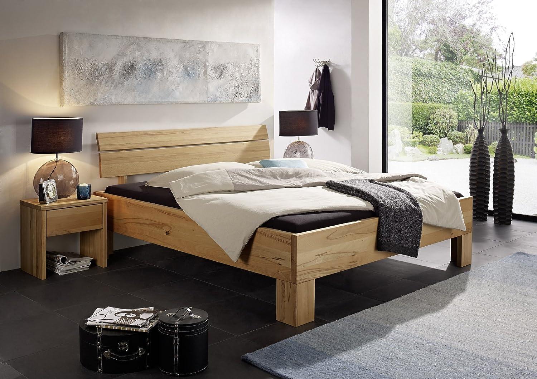SAM® Massivholzbett Oliver II Bett aus Kernbuche geölt 180 x 200 cm geteiltes Kopfteil, natürliches Design mit individueller Wuchsrichtung Lieferung zerlegt per Spedition günstig