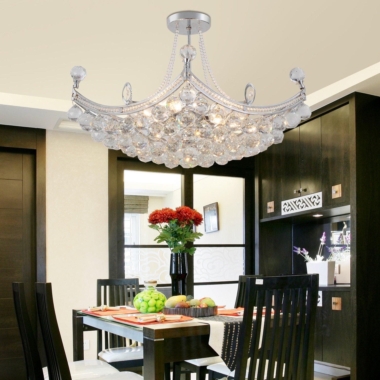 oofay light einfache und elegante kristall kronleuchter wohnzimmerlampe mit 6 schlafzimmern. Black Bedroom Furniture Sets. Home Design Ideas