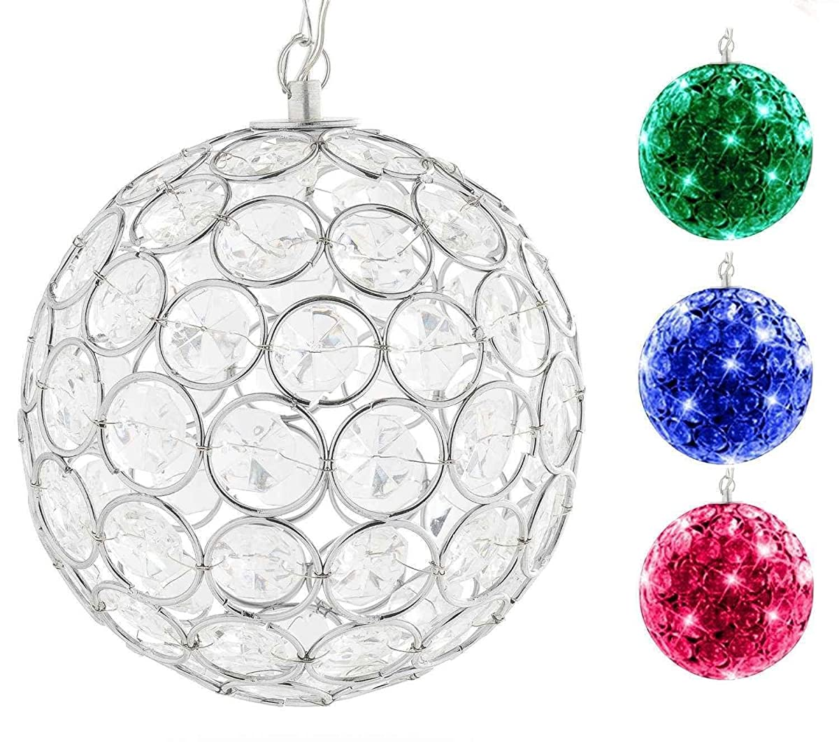 Hoont Outdoor Hanging Decorative Sparkling Crystals