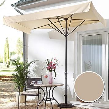 sonnenschirm f r balkon oder terrasse rechteckig beige us259. Black Bedroom Furniture Sets. Home Design Ideas