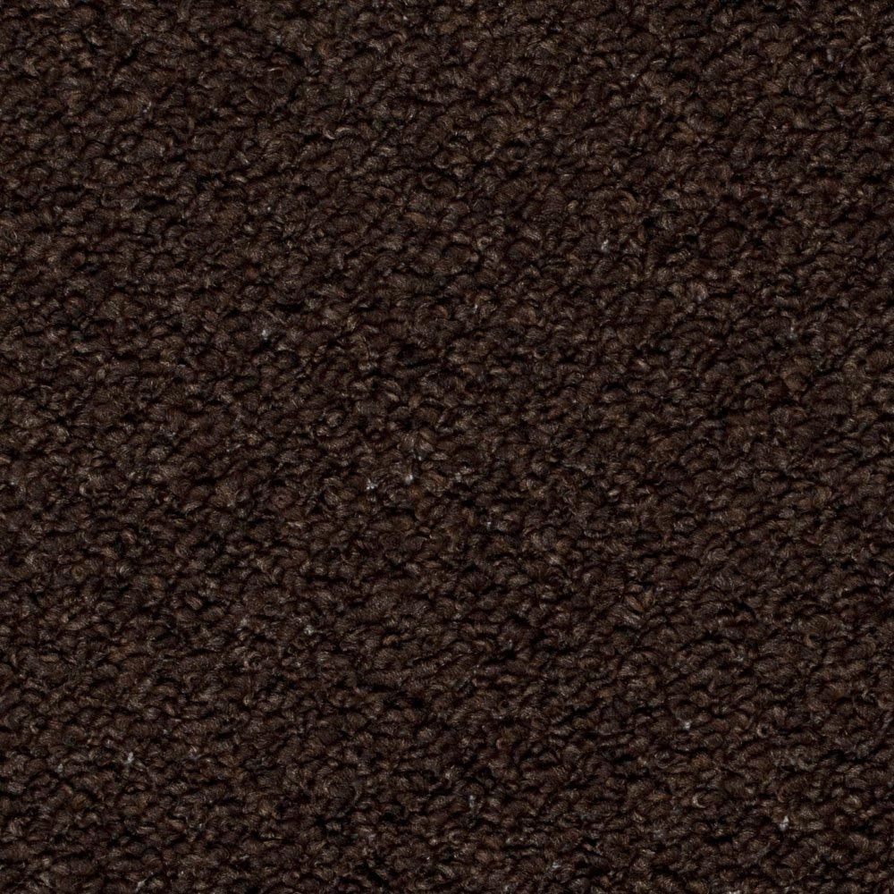 Dark Brown Carpet, Feltback Hardwearing Berber Looped Pile       reviews and more information