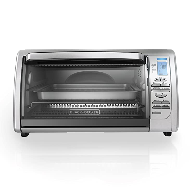 BLACK+DECKER CTO6335S Countertop Convection Oven, Stainless Steel