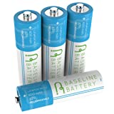 4 Baseline Battery 600mAh 14500 3.2v LiFePO4 Lithium Phosphate Rechargeable Batteries IFR Solar Garden Light