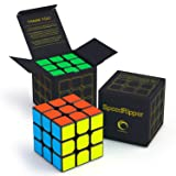 CreativeLine SpeedRipper Cube: Perfect for International Speed Cube Competitions - Buttery Smooth Turning - Solid & Durable, Best 3x3 Puzzle Magic Toy - Turns Quicker Than Original (Color: 3x3 Black)