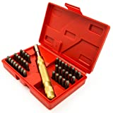 Bastex 39pc Steel Metal Number and Letter Alphabet ID Stamping Punch Tool Set Kit (Color: Carbon Steel)