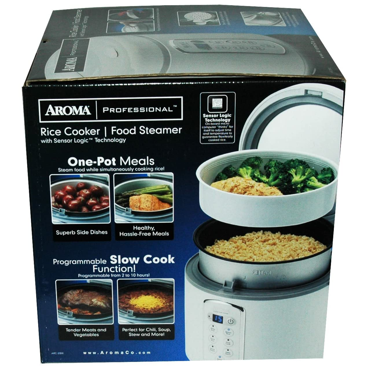Aroma Housewares Professional Rice Cooker/Food Steamer/Slow Cooker ARC2000A Reviews