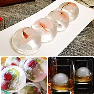 g0g0g0 B07V1M493L Whiskey Maker 4 Pack Silicone Round Cube Molds,Makes 2 inch Ice Balls (Black), one size, (Color: 4 Pack-Black, Tamaño: one size)