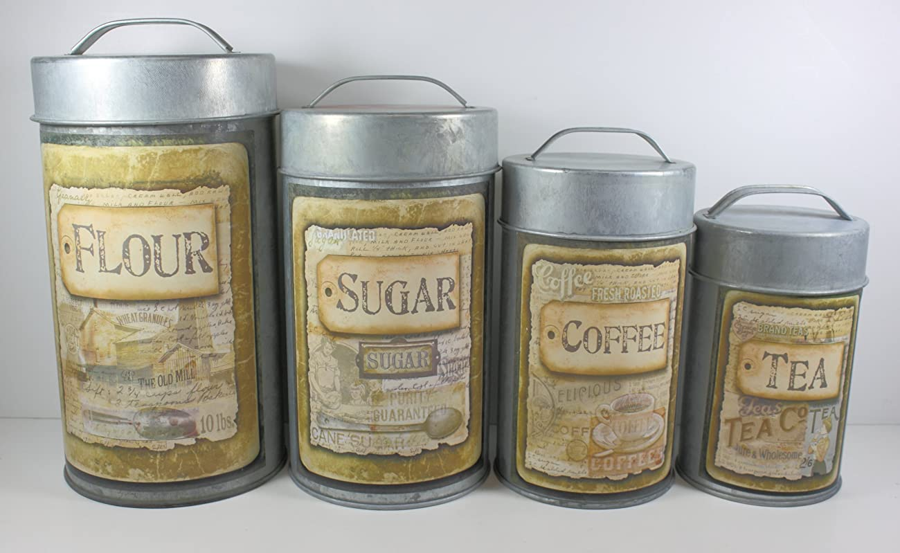 Vintage Decorative Canister Set Buttermilk - 4/set 0