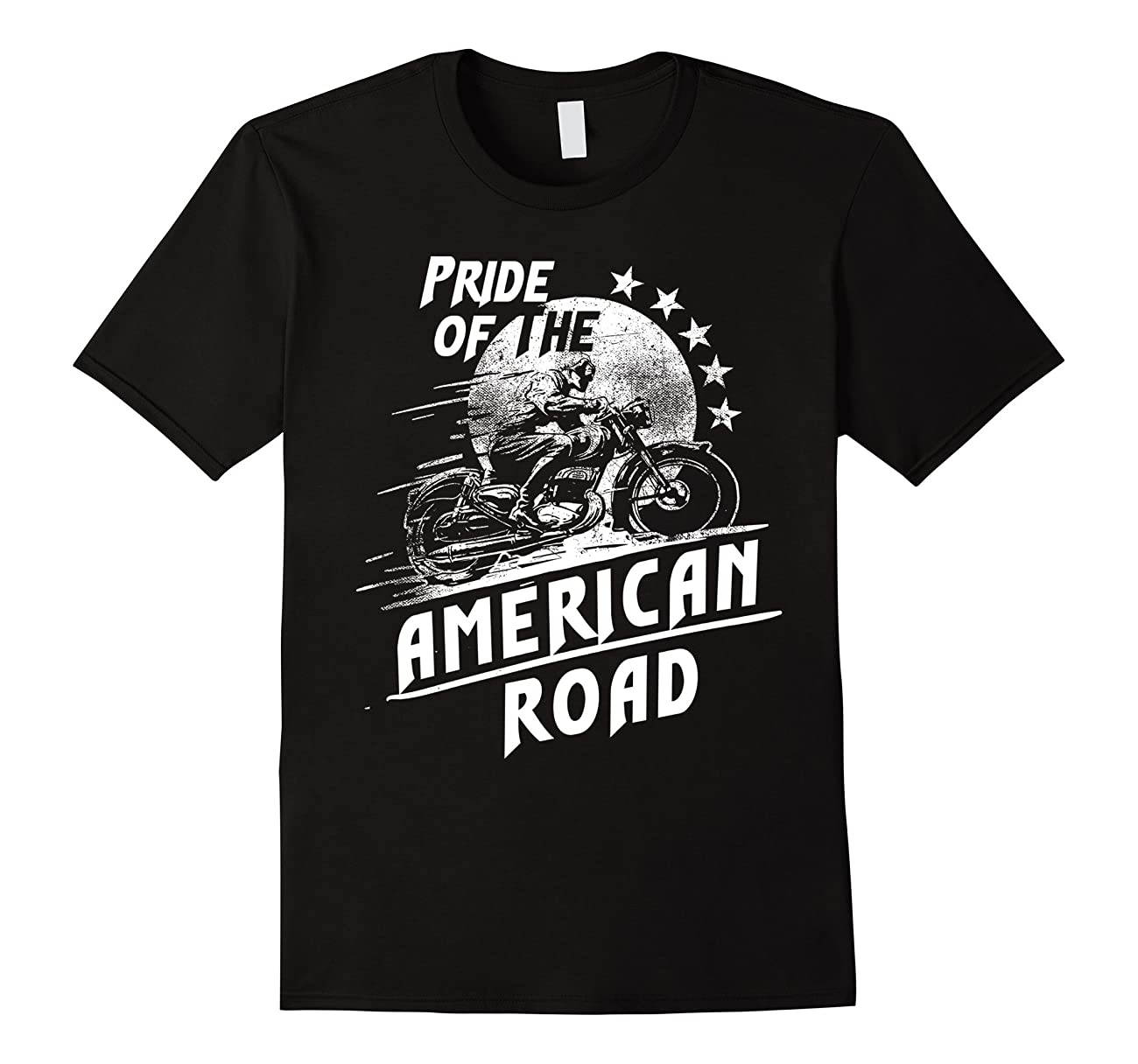 American Pride Custom Road Motorcycle Vintage Retro T-Shirt 0