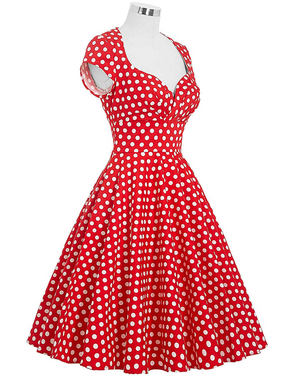 Belle Poque Women's 50's Cap Shoulder Knee-Length Vintage Church Dresses Size S-XL 3