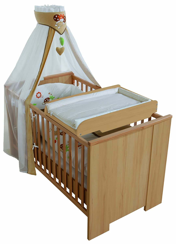 roba wickelplatte natur inkl wickelauflage als kinderbett aufsatz neu ovp ebay. Black Bedroom Furniture Sets. Home Design Ideas
