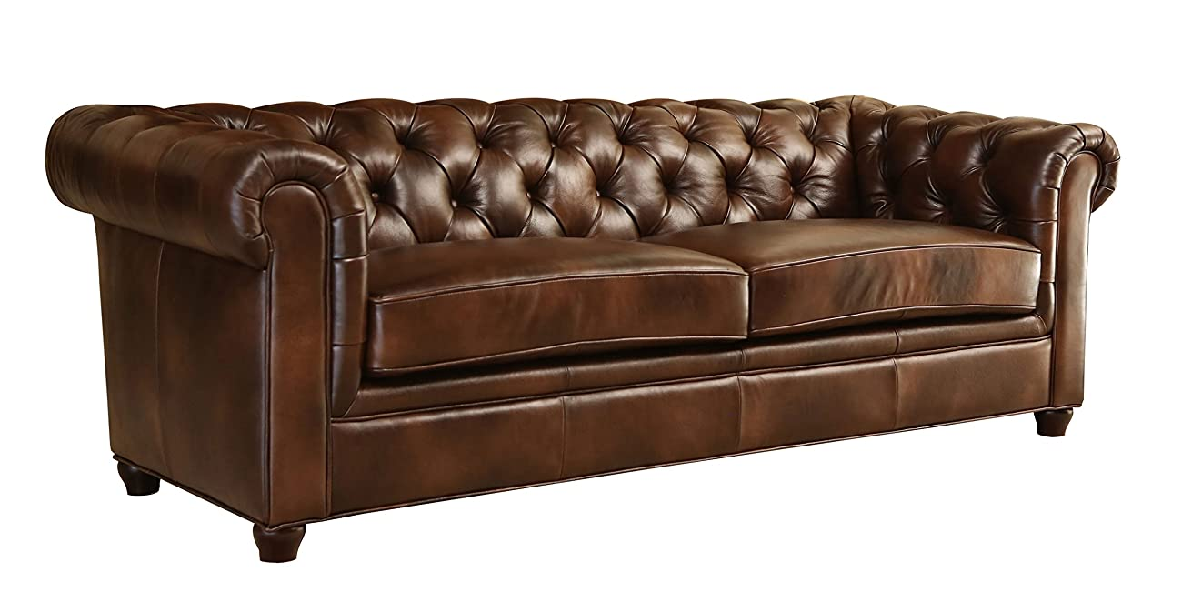 Abbyson Living Foyer Premium Italian Leather Sofa 0