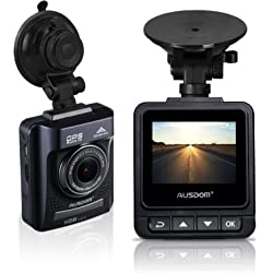 Ausdom In Car Camera Recorder A261 Dash Cam with Built in GPS Tracking