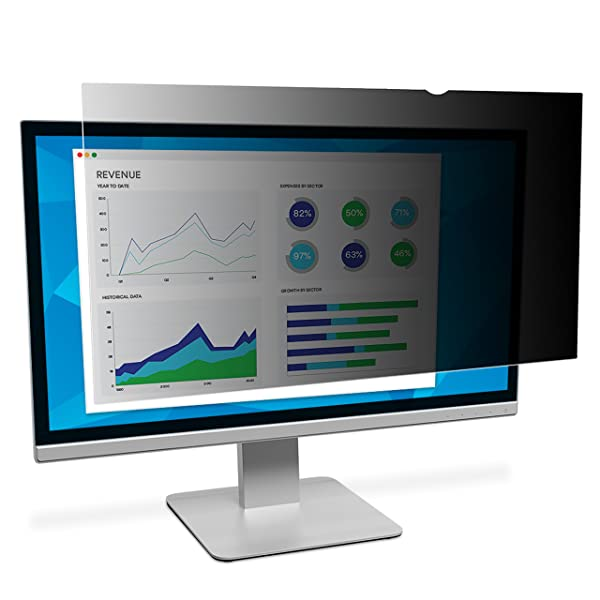3M Privacy Filter for 19.0 Standard Monitor (Color: Black, Tamaño: 19)