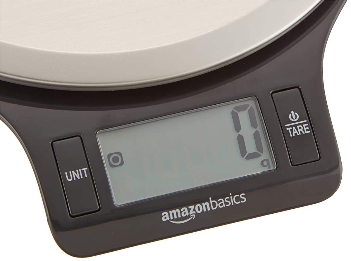 AmazonBasics Digital Kitchen Scale with LCD Display (Batteries Included)