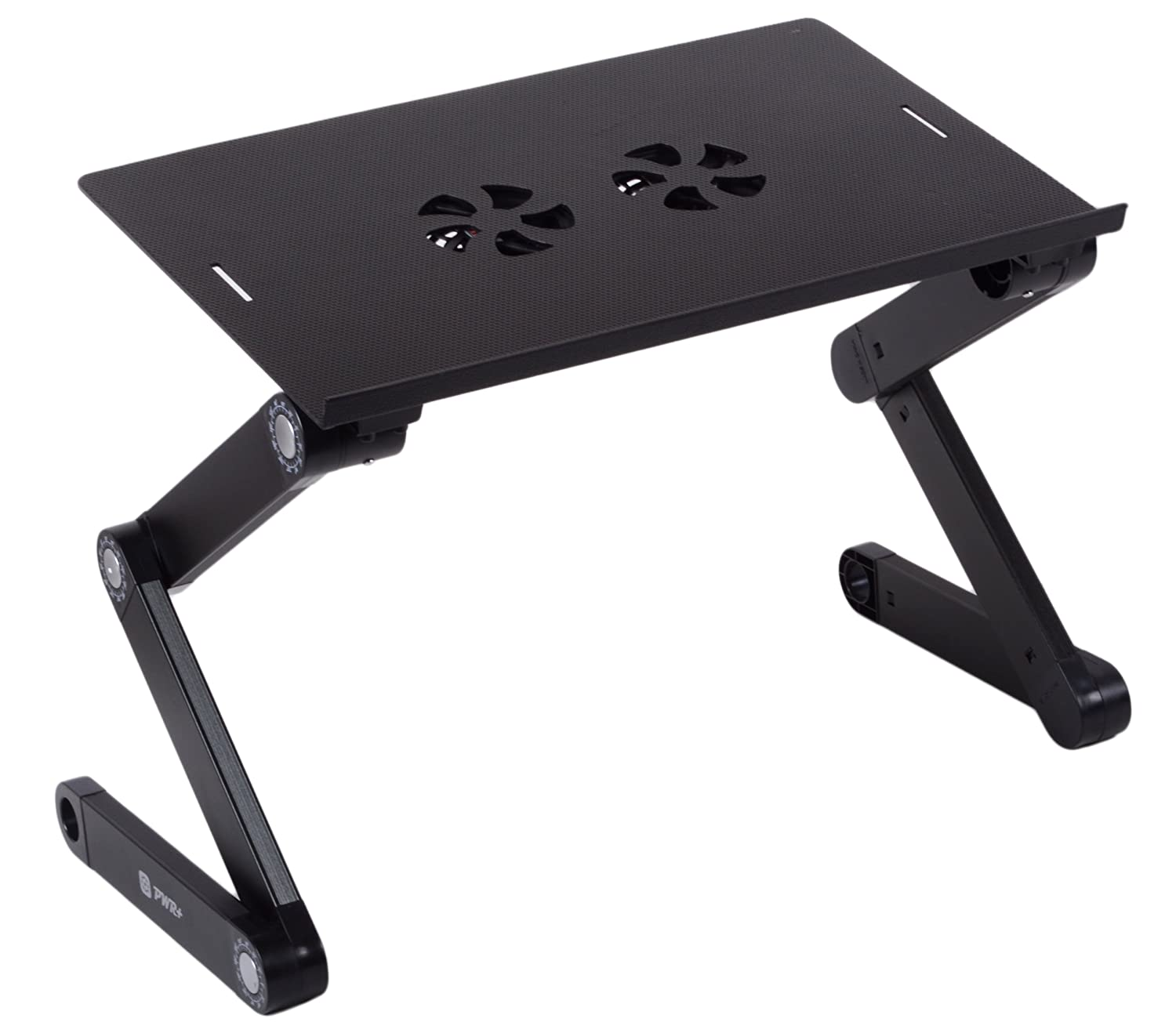 Pwr+ Portable Folding Laptop Notebook Book Ultrabook Table Desk Tray Stand with Cooling Pad - 2x Cooler Fans - Fully Adjustable Angle at Sears.com