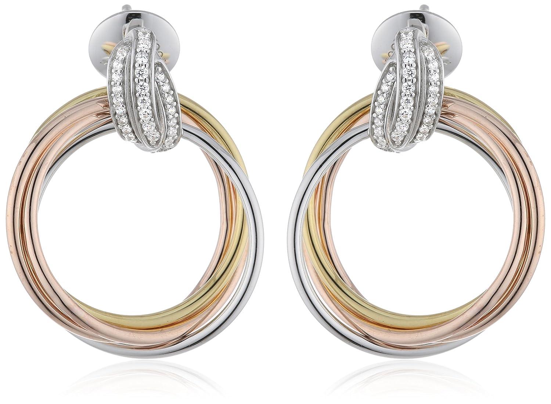 Joop Damen-Ohrstecker 925 Sterling Silber Zirkonia Embrace 3.1 cm weiß JPER90300B000 schenken