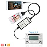 Moonet Car Ipod 3.5MM Interface Auxiliary Input Adapters Connect Iphone 5 5s 5C 6 6plus for 4Runner Camry Highlander RAV4 Yaris Avalon Celica Corolla FJ Cruiser Matrix MR2 Tacoma (Tamaño: 3.5mm + IPOD Interface)