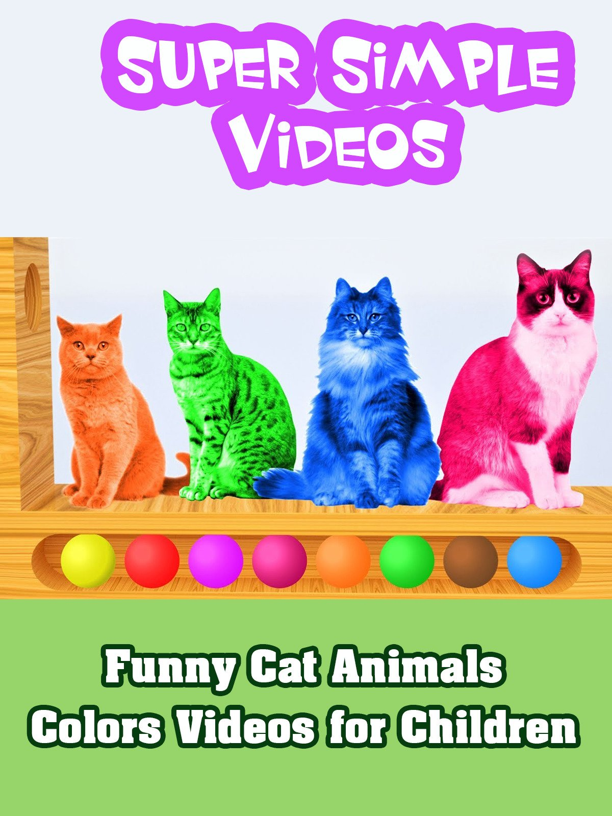 Funny Cat Animals Colors Videos for Children