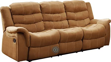 Homelegance Huxley Double Reclining Sofa in Brown