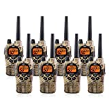 Midland GXT1050VP4 36-Mile JIS4 Waterproof 50-Channel FRS/GMRS Two-Way Camo Radio (8 Pack) (Tamaño: 8 Pack)