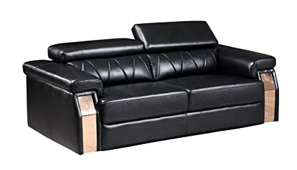 Global Furniture U8012 - DTP672/B - S Blanche Sofa, Black