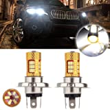 CCIYU H4 9003 54 SMD Cree LED Bulb for Motorcycle Car Bike Fog Light Lamp,2 Pack Xenon White