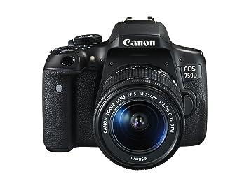"""Canon EOS 750D - Appareil photo reflex numérique 24,2 MP (écran 3 """", stabilisateur optique, Full HD), couleur noire - Kit avec EF-S 18-55mm IS STM"""