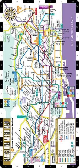 Streetwise Barcelona Metro Map - Laminated Metro Map of Barcelona Spain - Folding pocket size subway map for travel