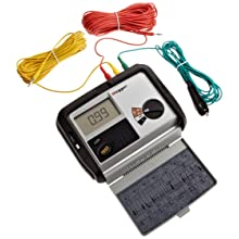 Megger DET3TD 3-Terminal Digital Ground Resistance Tester, 0.01 to 2000 2%± 3d Resistance Range, 0-100 V Ground Voltage Range