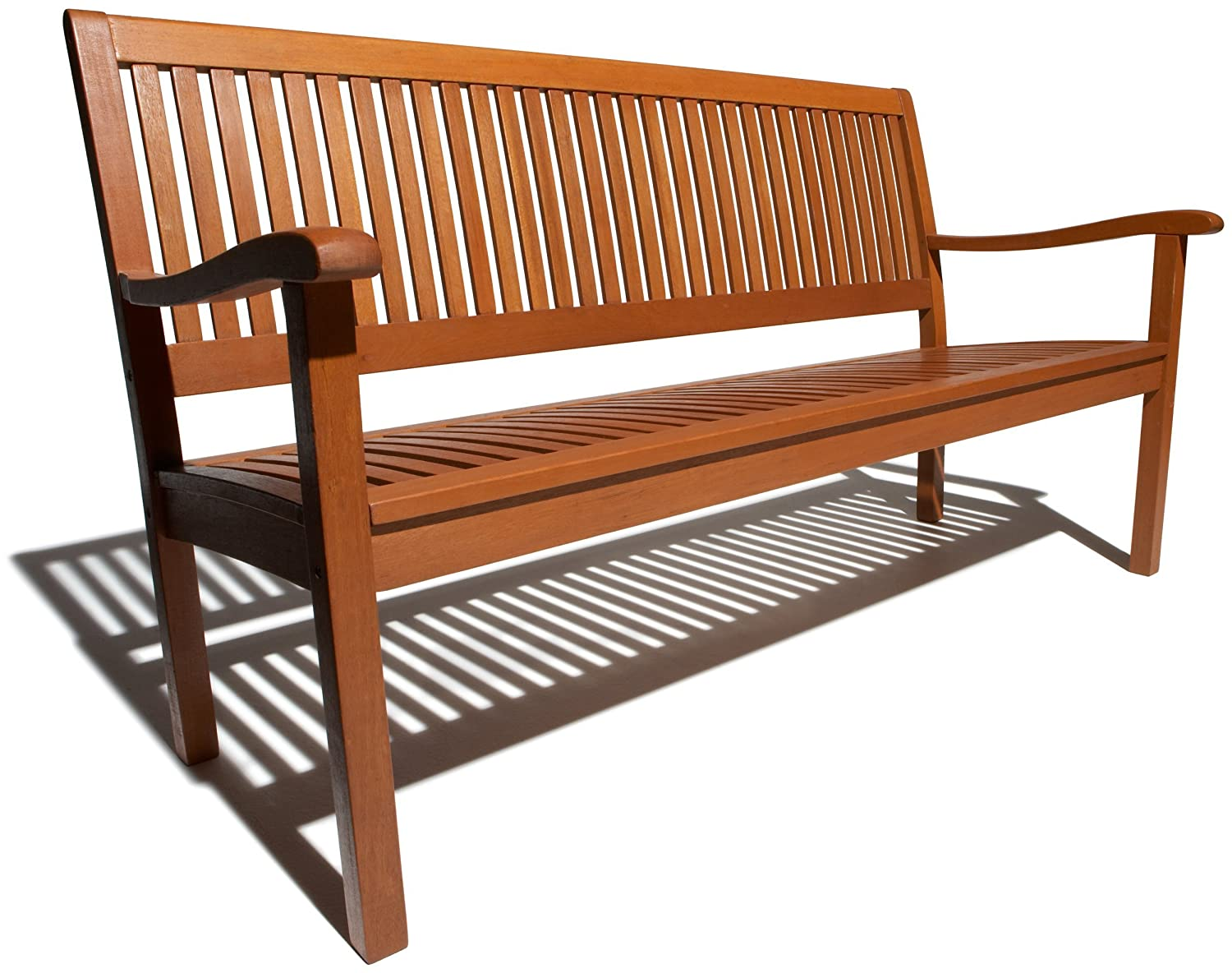 Wood patio bench home decor and furniture deals for Bancas para jardin