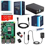 Vilros Raspberry Pi 4-4GB RAM- Complete Starter Kit with Heavy-Duty Self-Cooling Aluminum Alloy Case (Tamaño: 4GB)