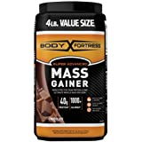 Body Fortress Super Advanced Mass Gainer, Chocolate Protein Plus Surplus Calories for Muscle Mass Gain Support 1-4lb. Jar