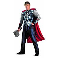 Disguise Marvels Avengers Movie Thor Avengers Classic Muscle Adult Costume